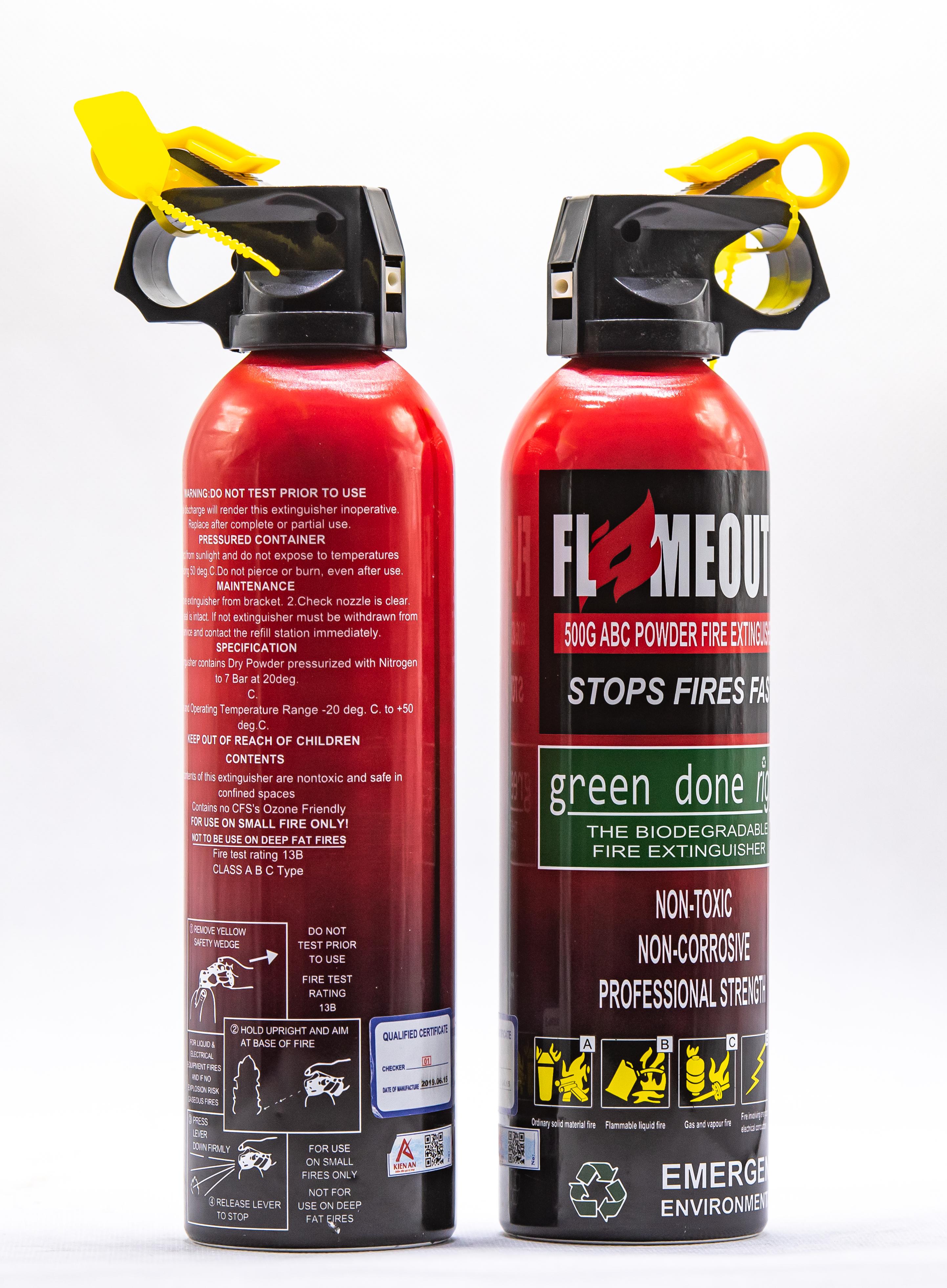 Bình chữa cháy mini cao cấp ABC FLAMEOUT™500g